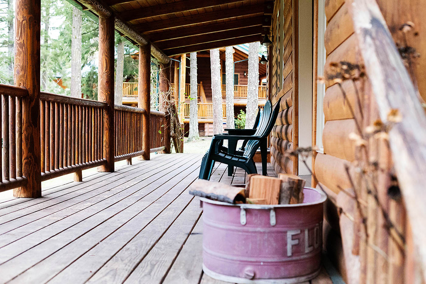 Cabins at Lakedale Resort on San Juan Island near Washington