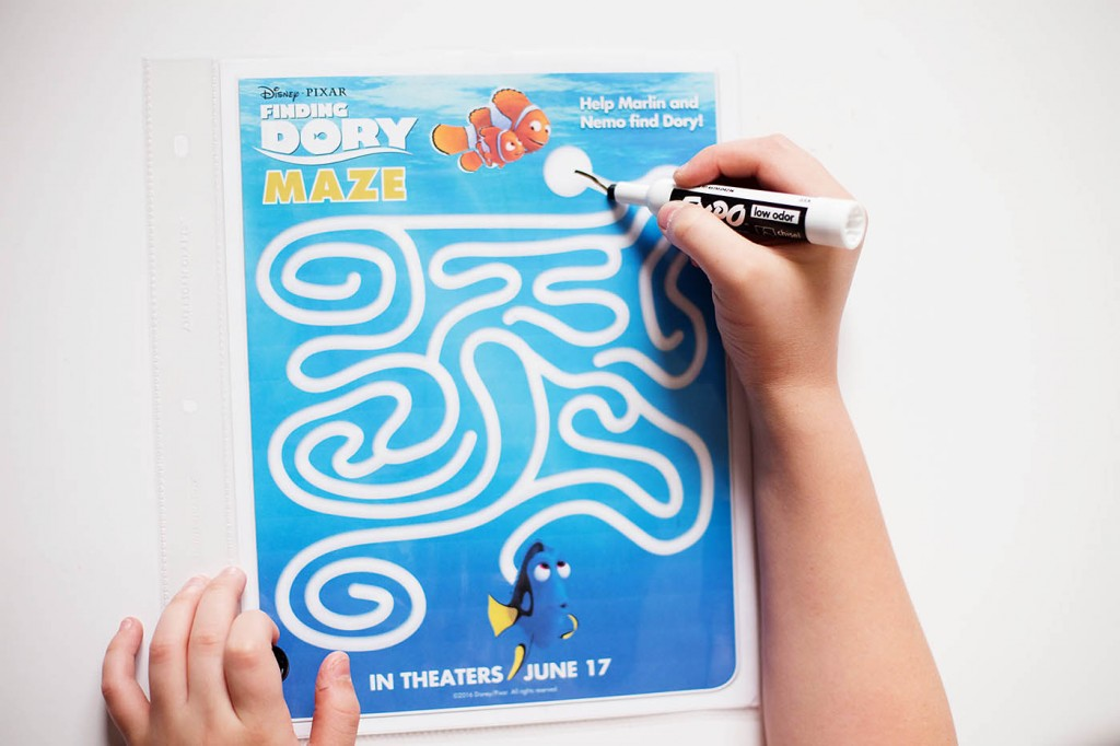 Finding Dory printable coloring pages, dot to dots and a maze!