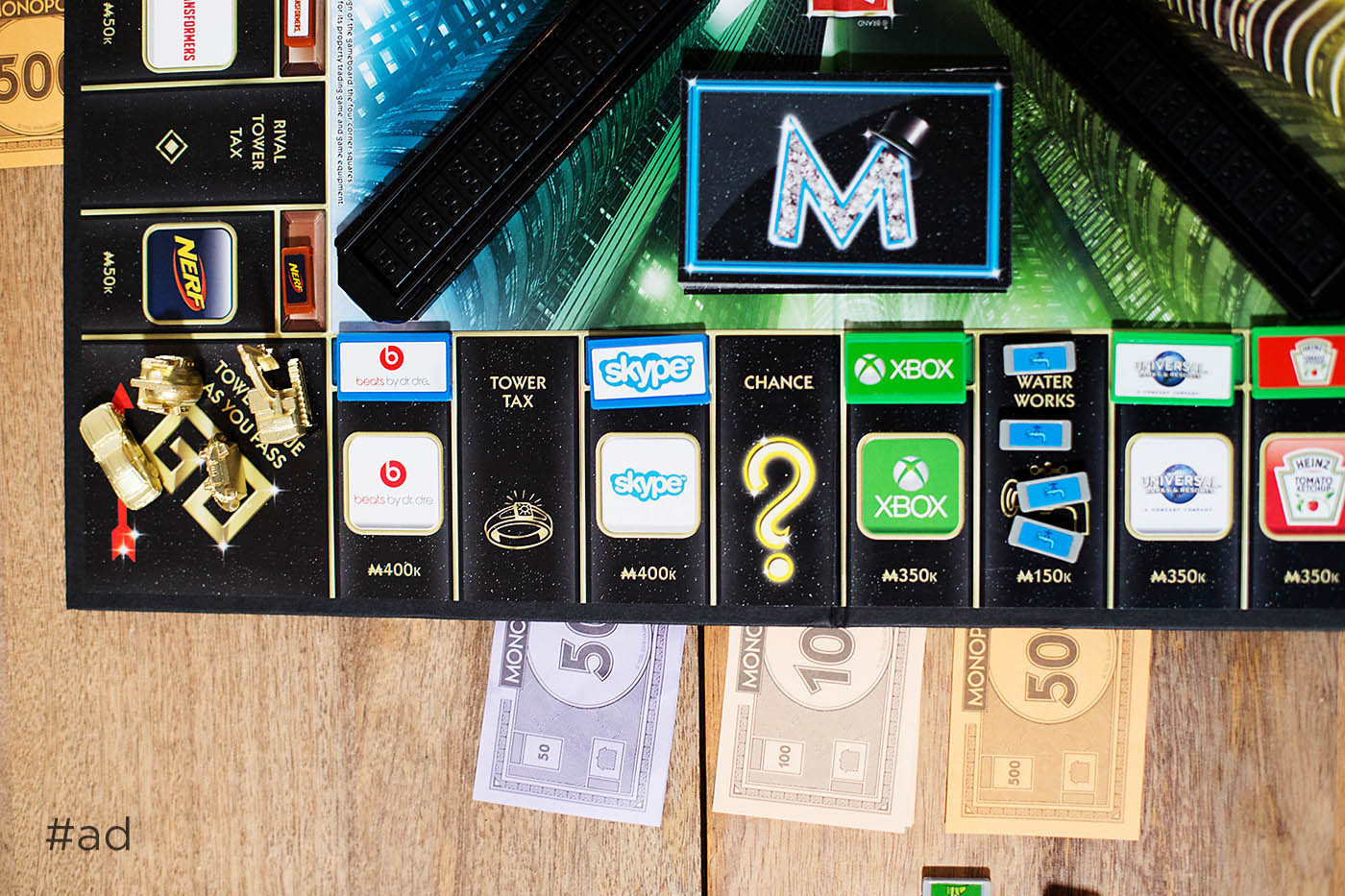 Unplugged family game night with the Monopoly Empire game