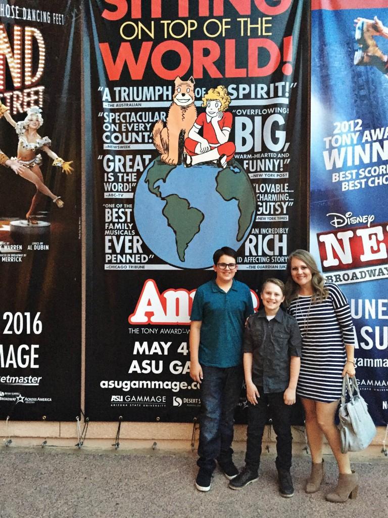 Go see ANNIE at ASU Gammage This Weekend!
