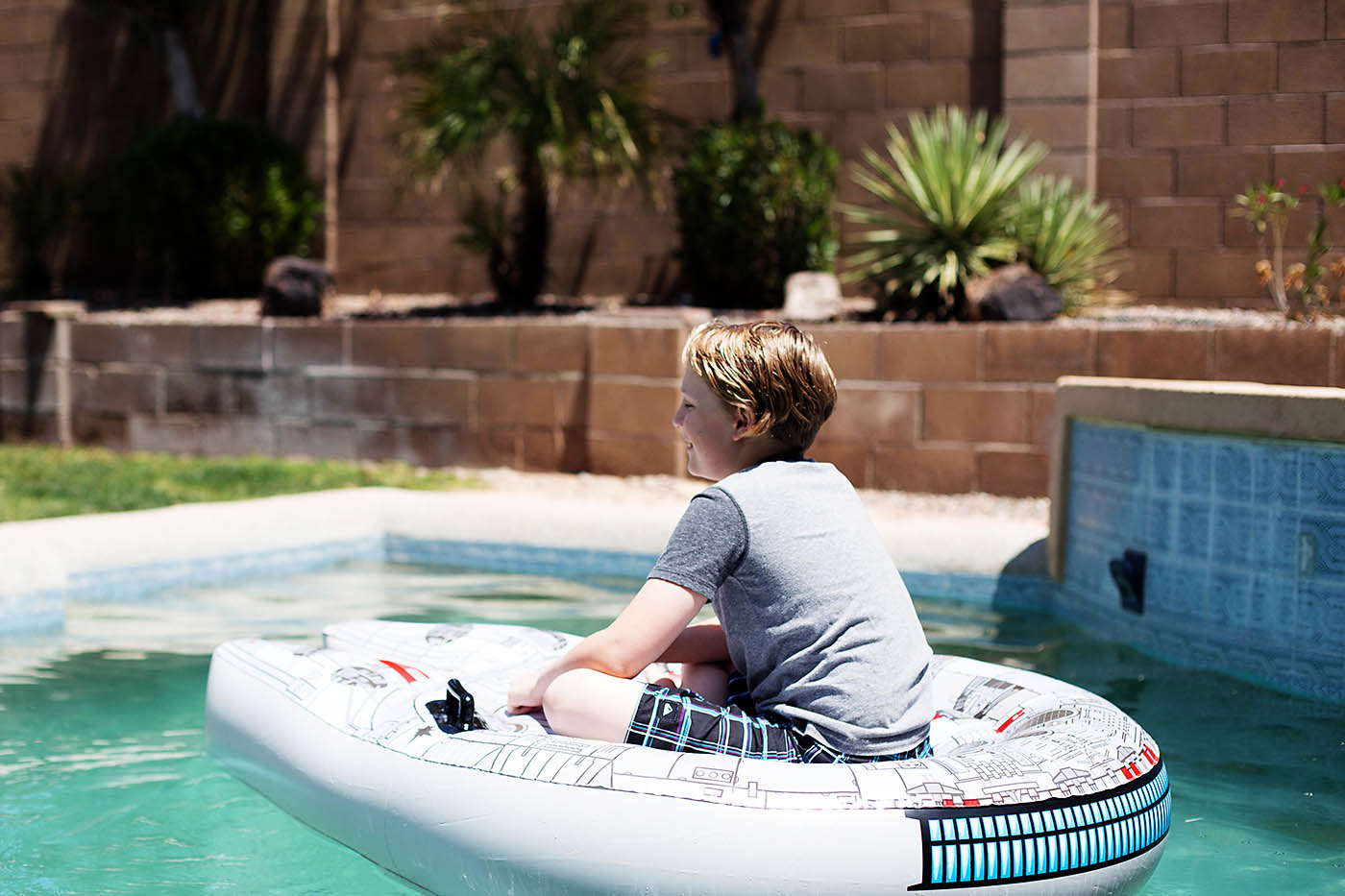 Millennium Falcon pool toy from Swimways