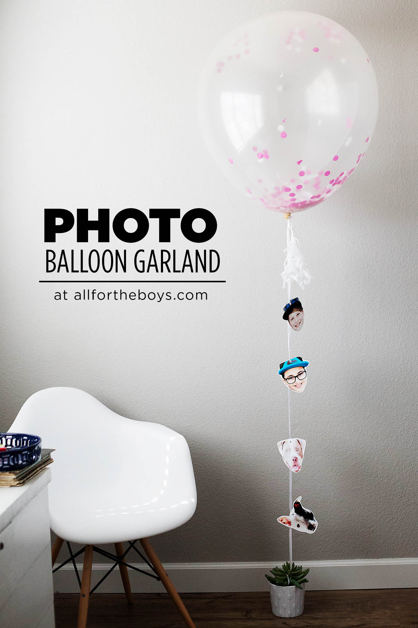 DIY photo balloon garland - SUCH a cute gift idea!