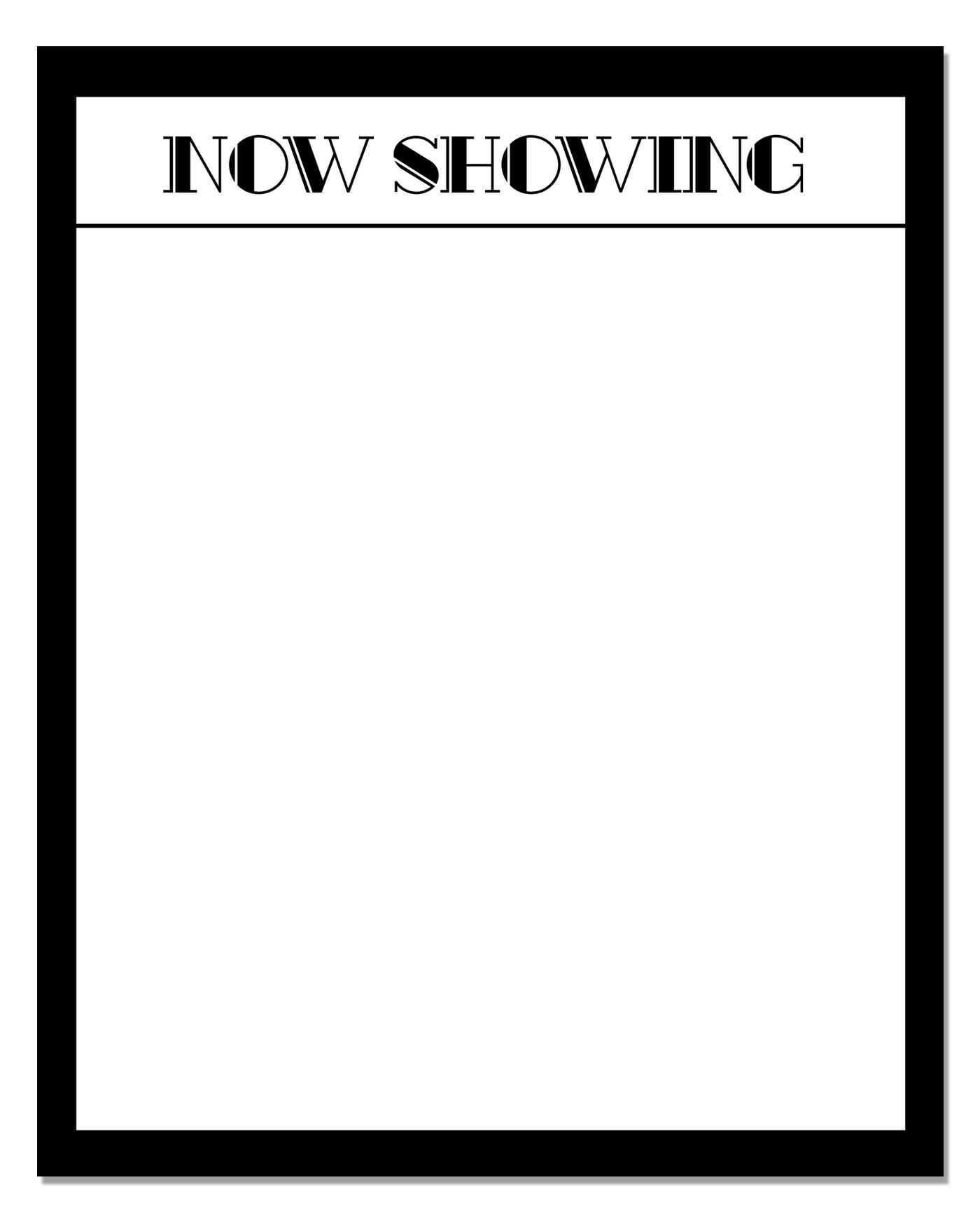 Now Showing Printable