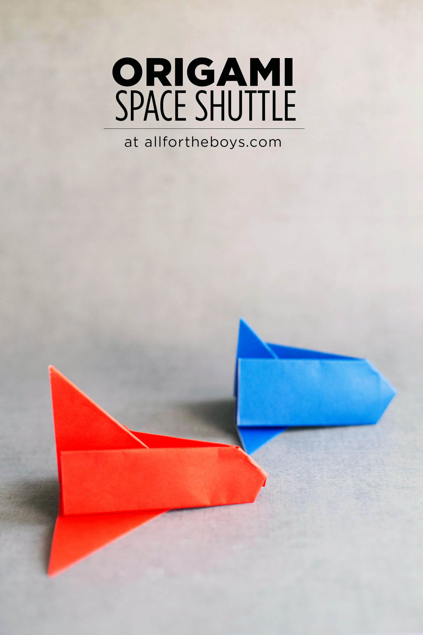 Origami space shuttle