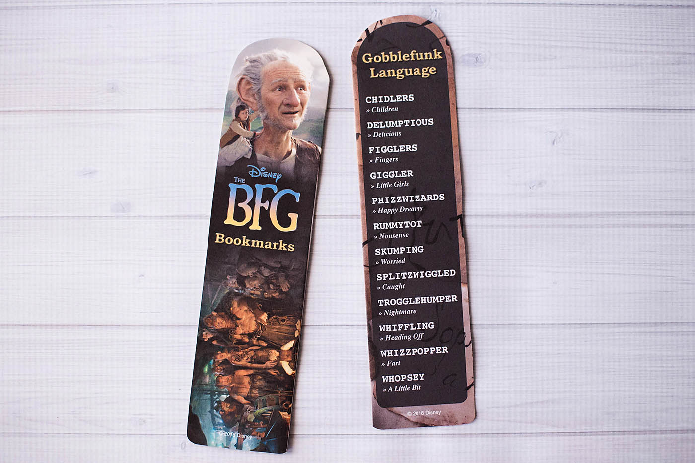 The BFG printable bookmarks