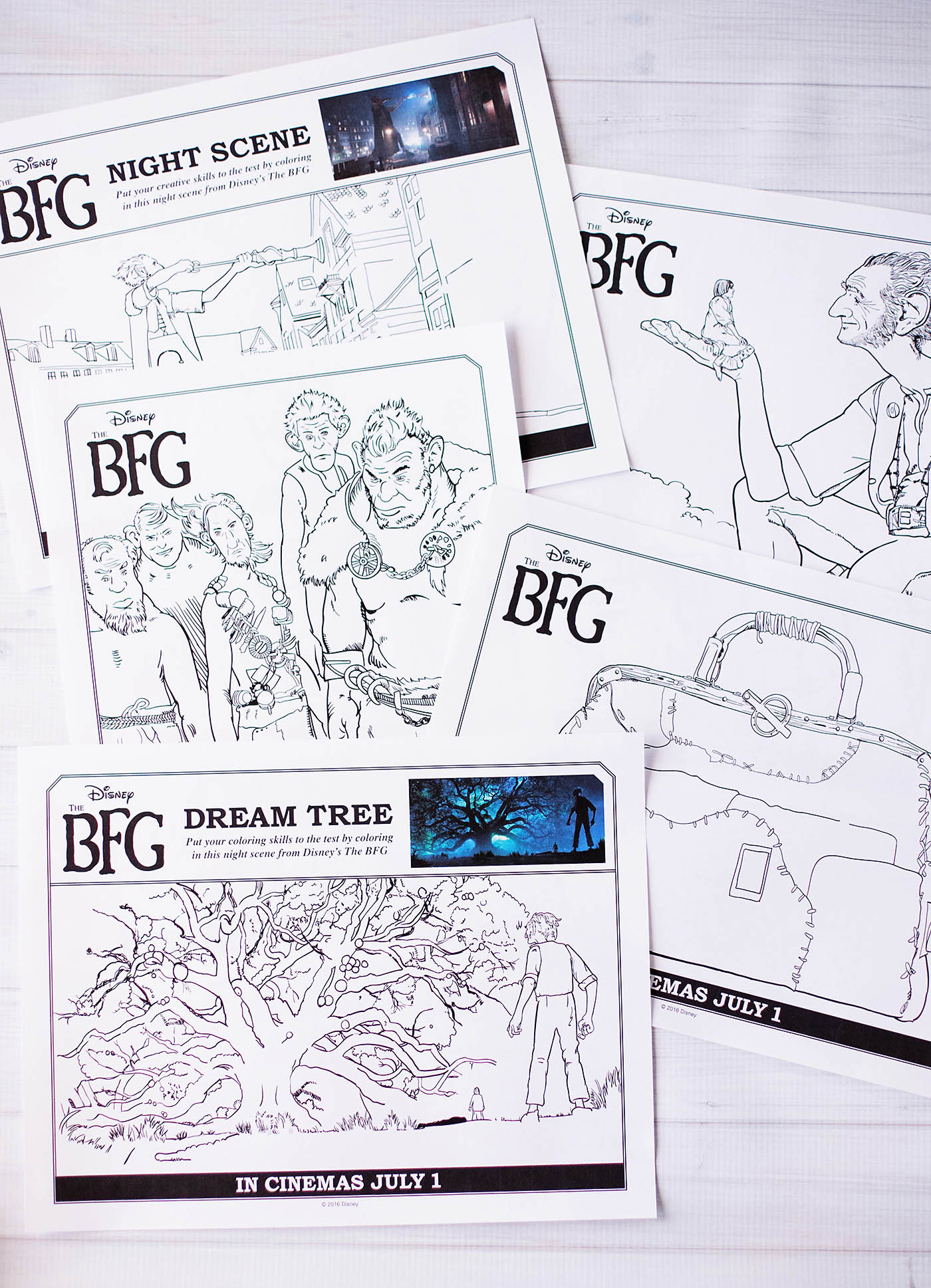 The BFG printable coloring pages