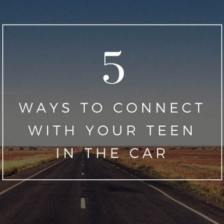 Ways to connect with your teen in the car & a giveaway!