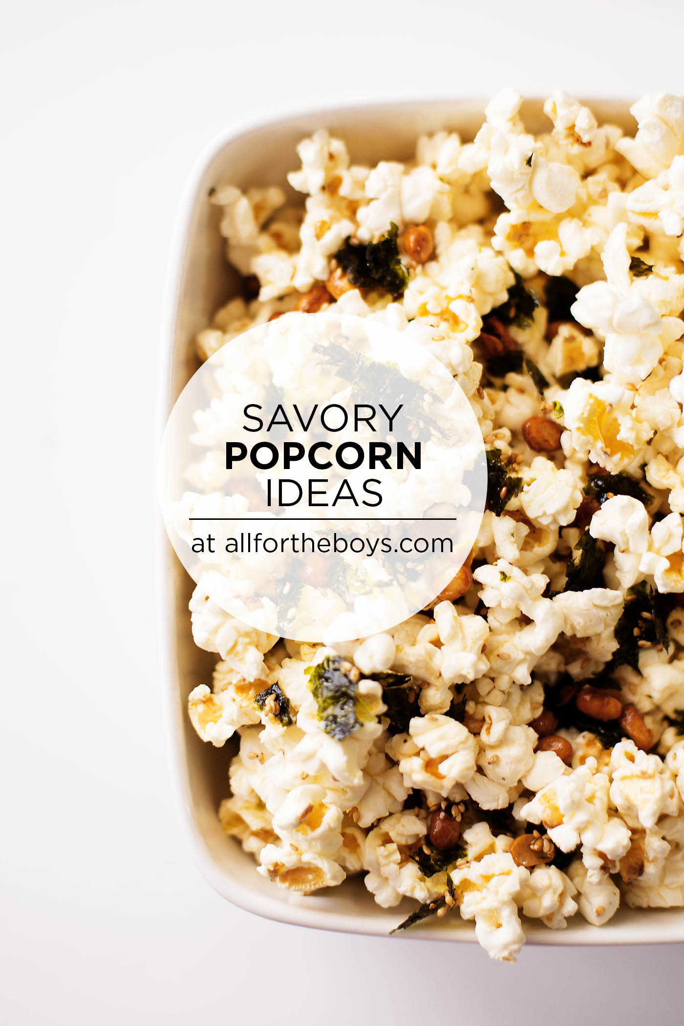 Savory popcorn recipes