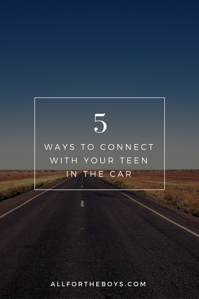 Ways to connect with your teens in the car and a giveaway