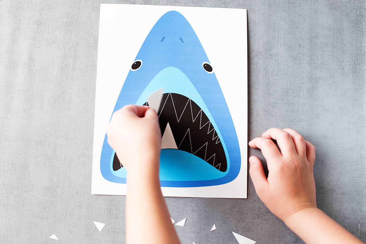 Find Sharky's Teeth: Printable Shark Game