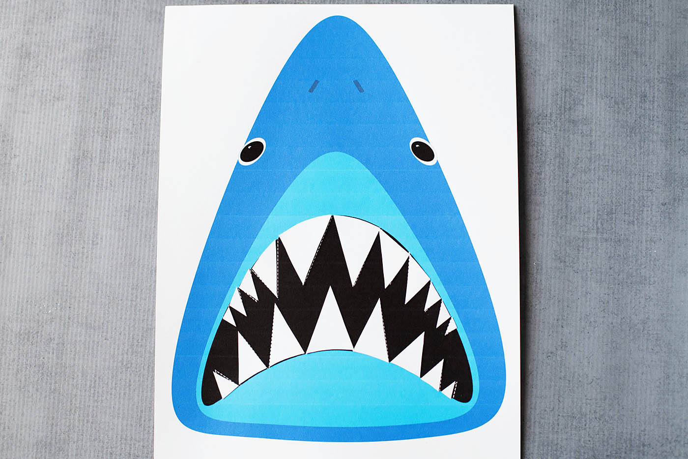 photograph regarding Shark Printable titled Obtain Sharkys Tooth: Printable Shark Activity All for the Boys