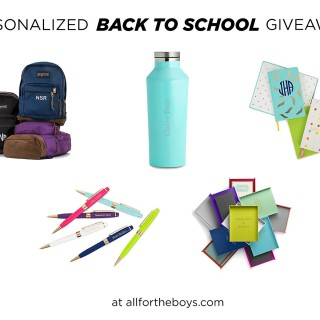 Personalized Back to School Giveaway