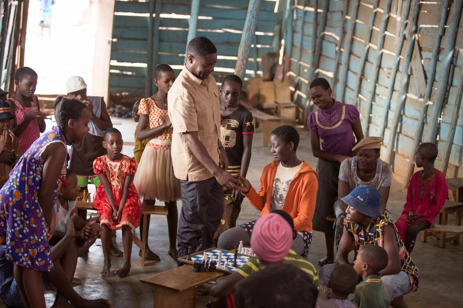 David Oyelowo and Madina Nalwanga in the film