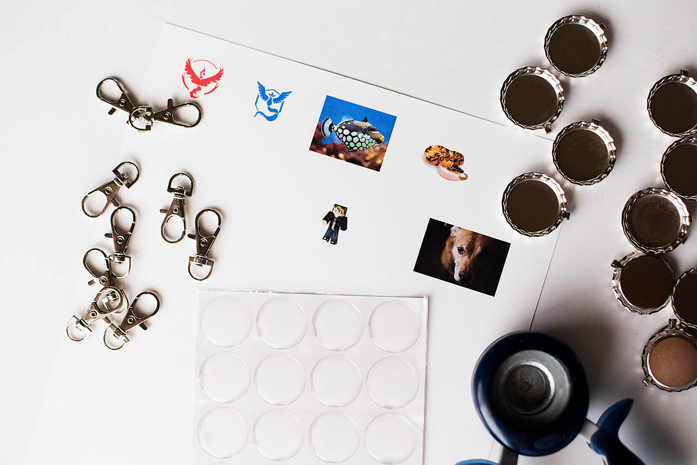 DIY backpack tags or keychains