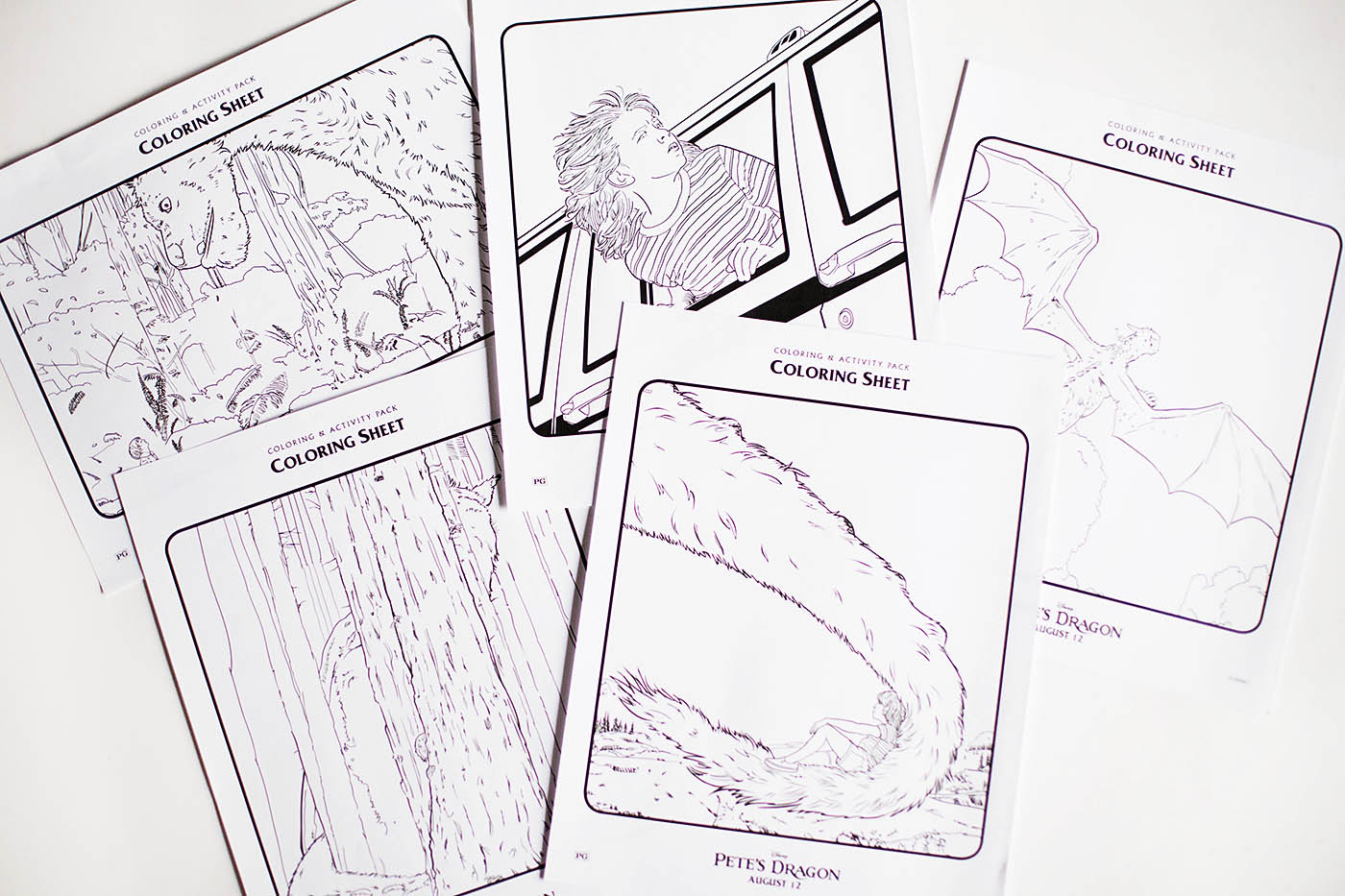 Pete's Dragon Printable Activities & Coloring Pages