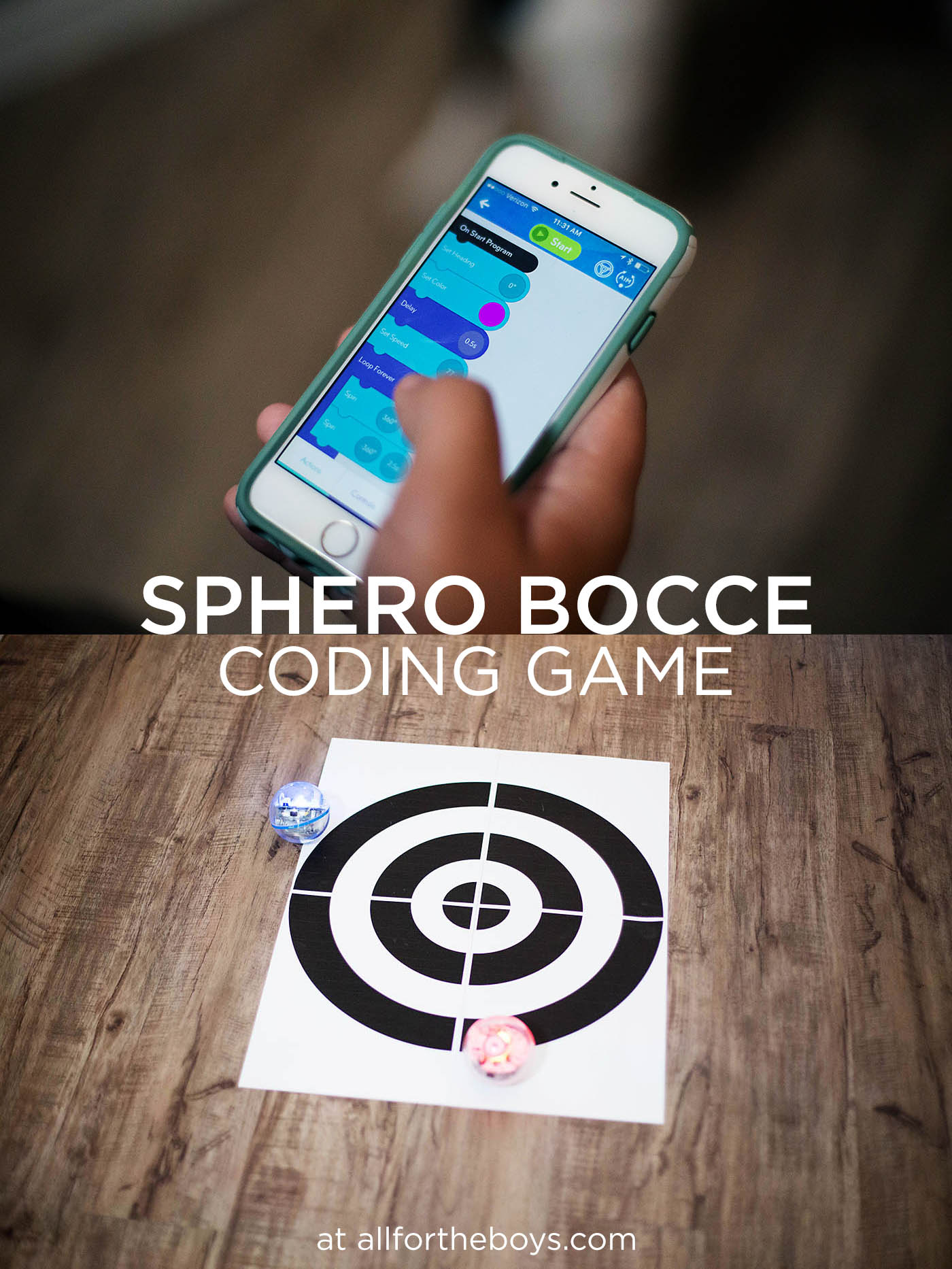 Sphero Bocce Ball coding game!