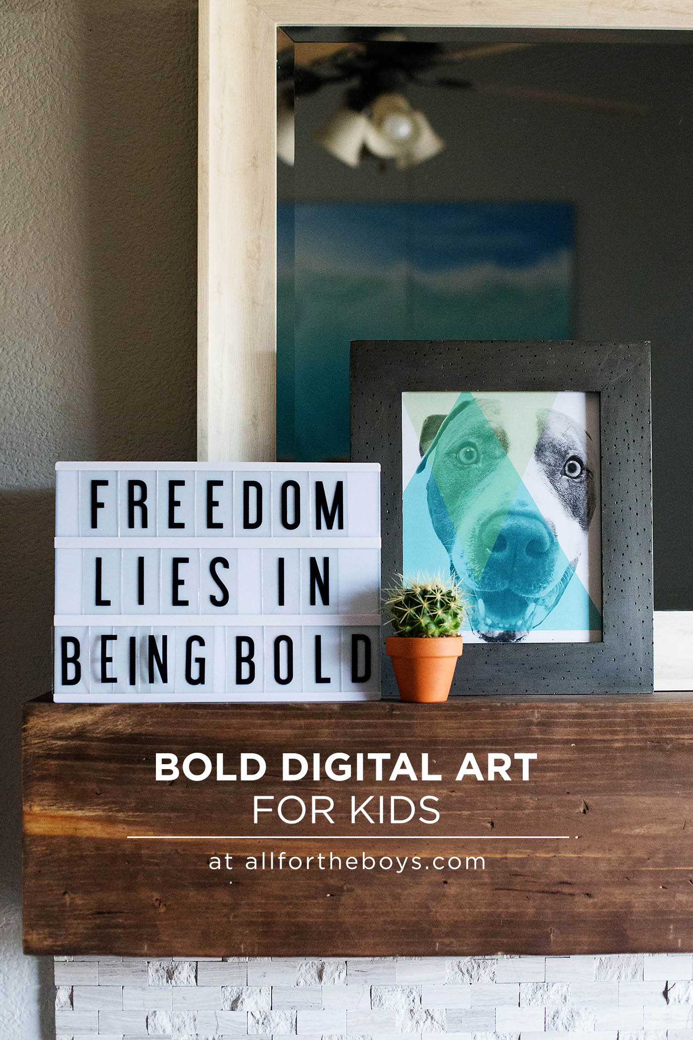 Bold digital art project for kids