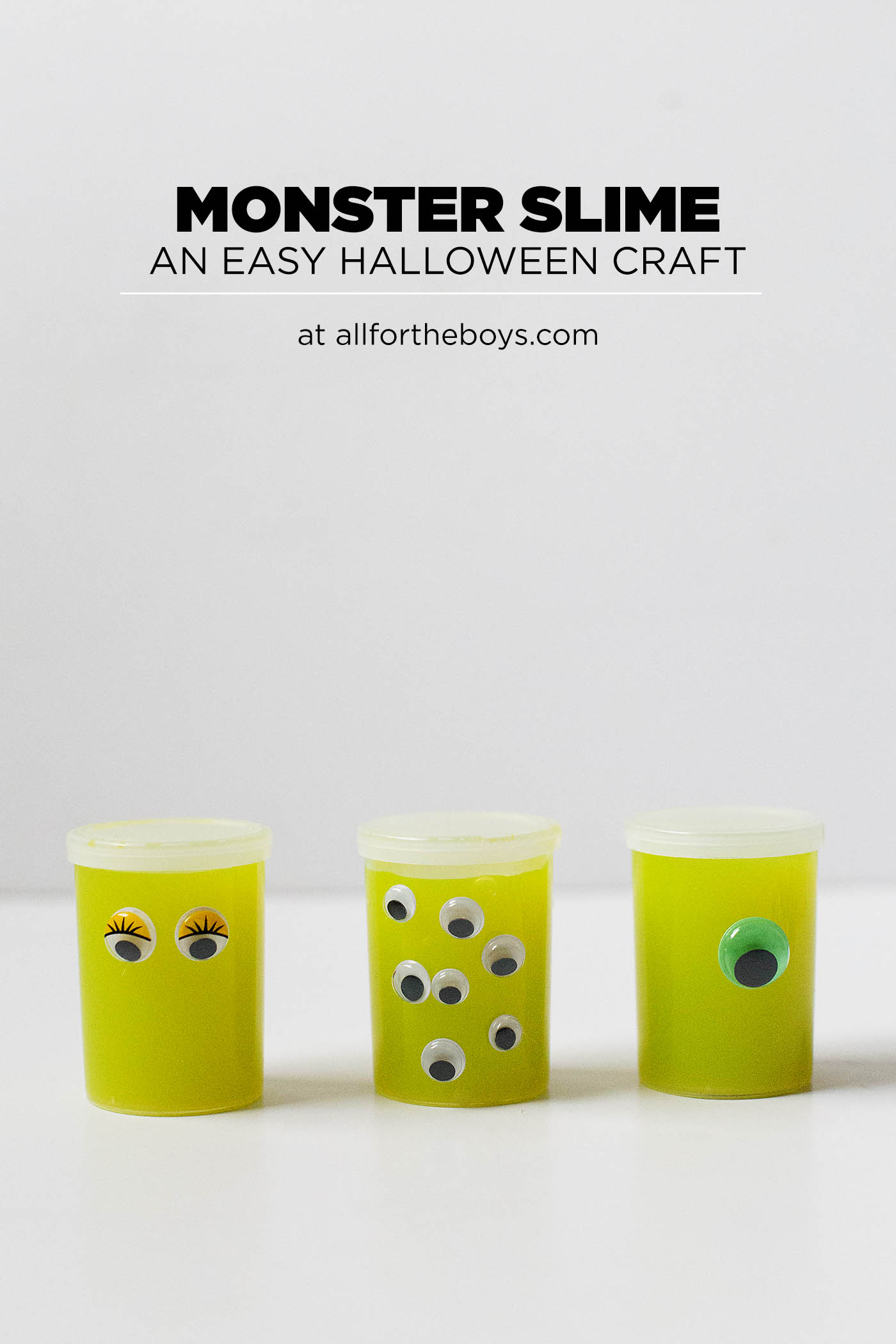 Monster Slime - an easy Halloween craft or non-candy gift idea