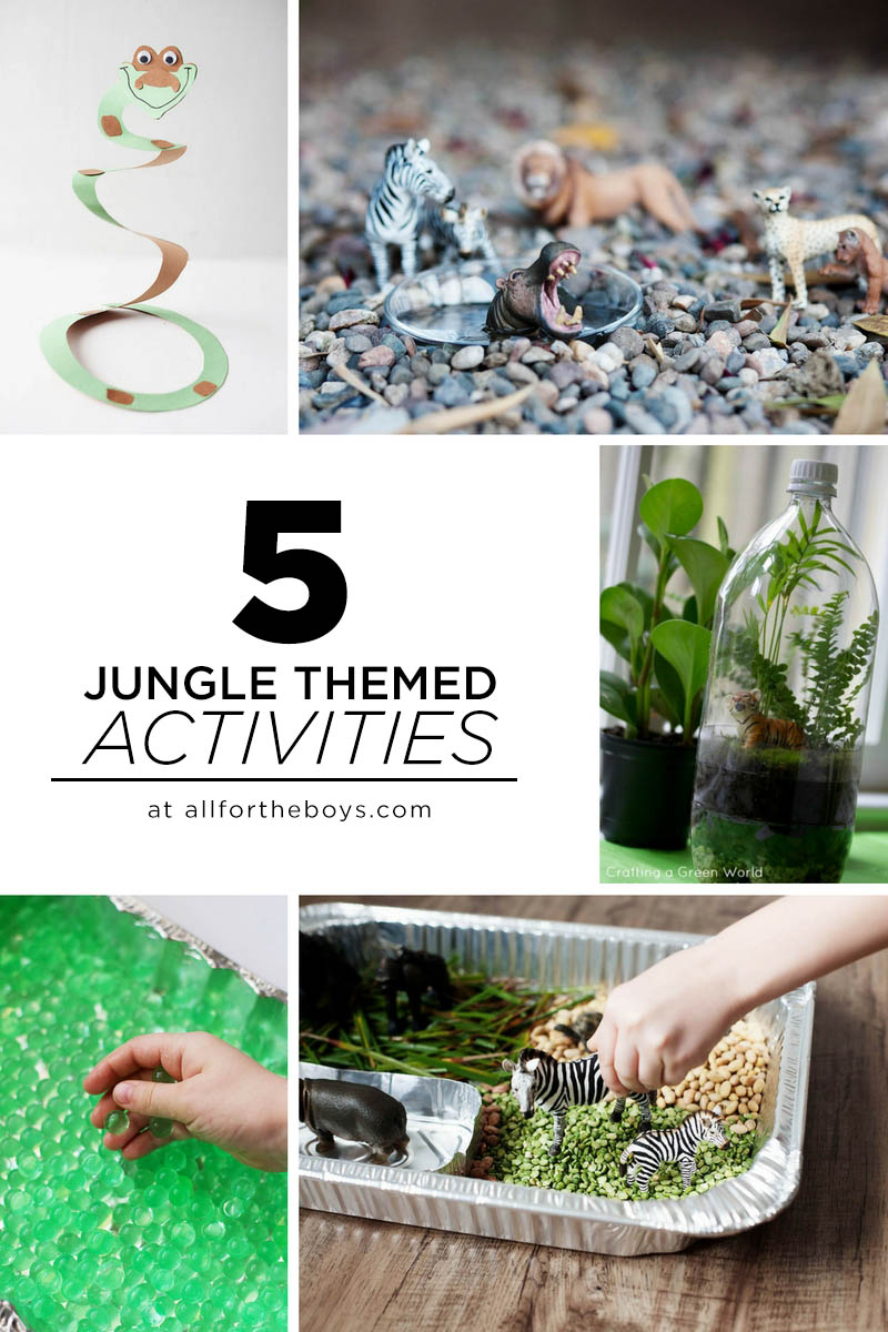 Jungle Themed Activities All For The Boys