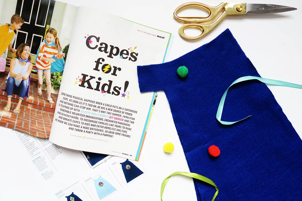 Capes for Kids - a cape making campaign from FamilyFun magazine