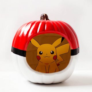 Poké Ball Pumpkin