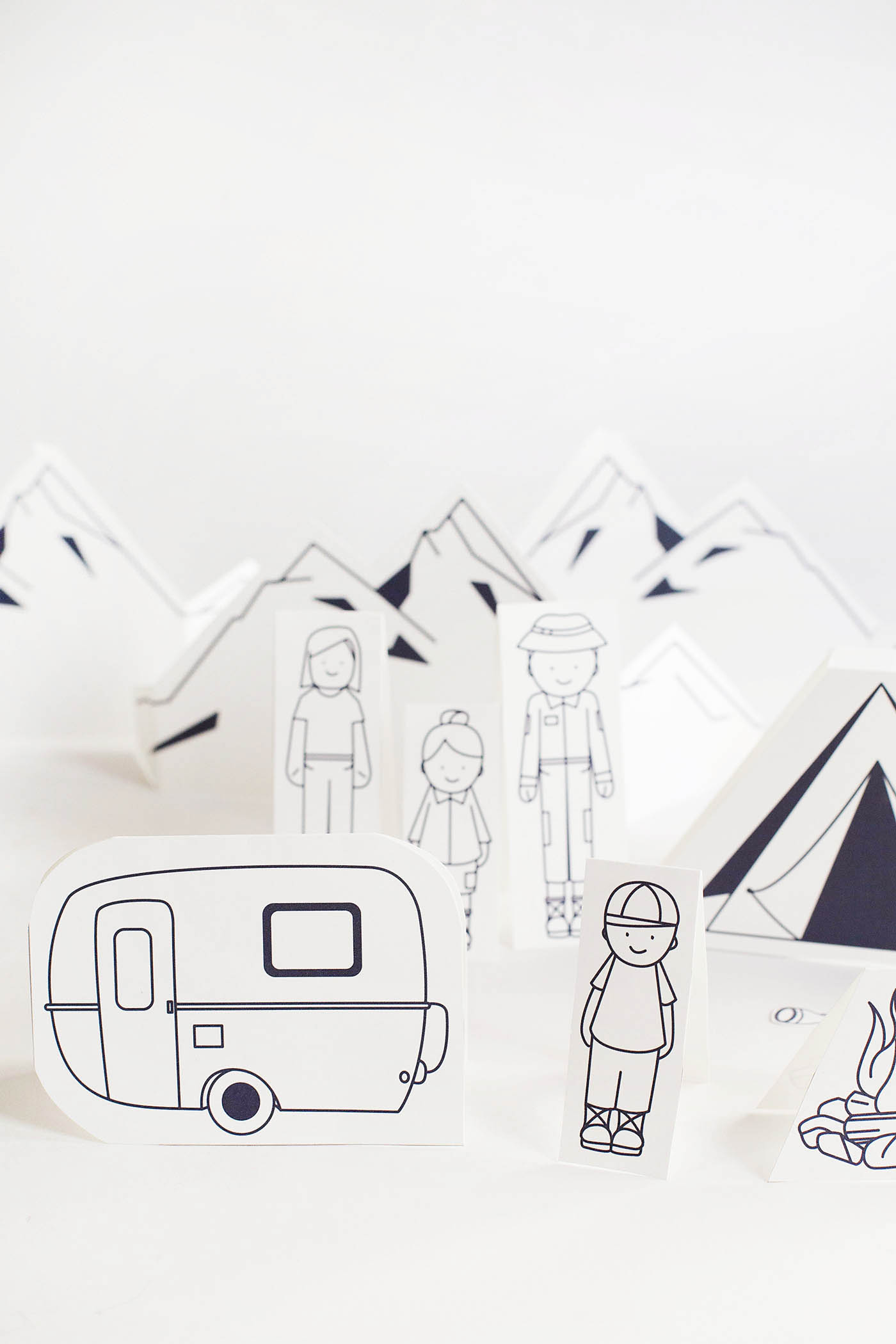 Let's Go Camping - printable play set