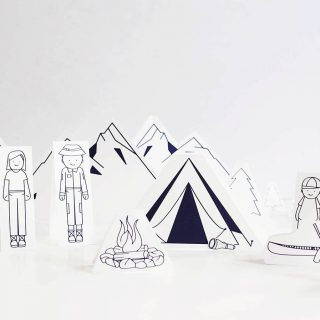 Let's Go Camping – Printable Paper Play Set