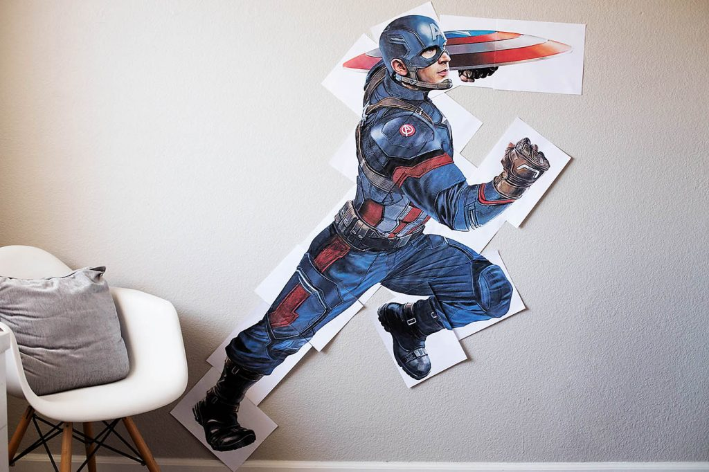 Free Printable Super-Size Captain America
