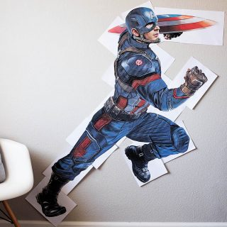 Free printable super-size Captain America - for a movie night or any Marvel fan!