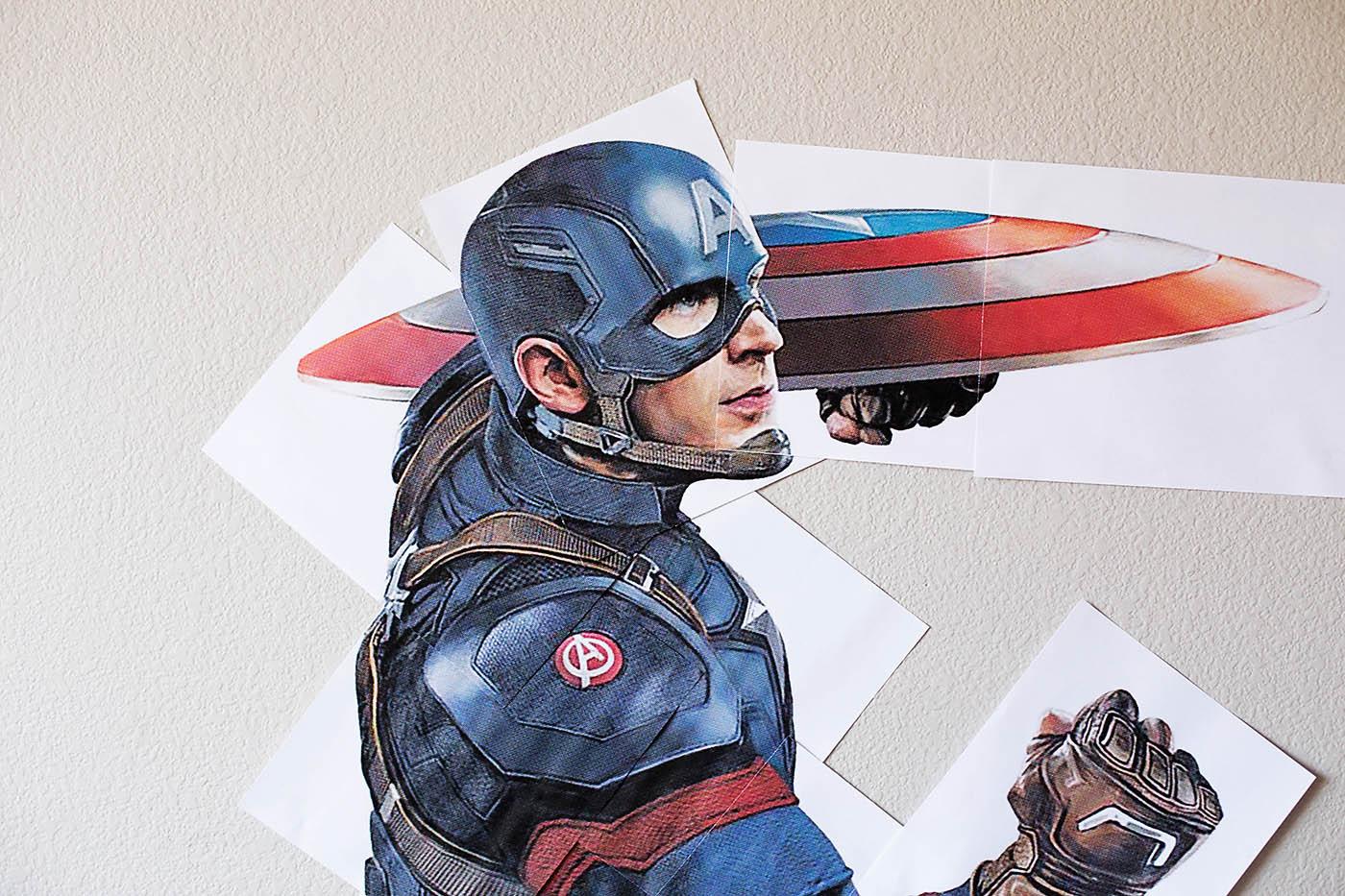 photograph regarding Captain America Printable named No cost Printable Tremendous-Dimension Captain The usa All for the Boys