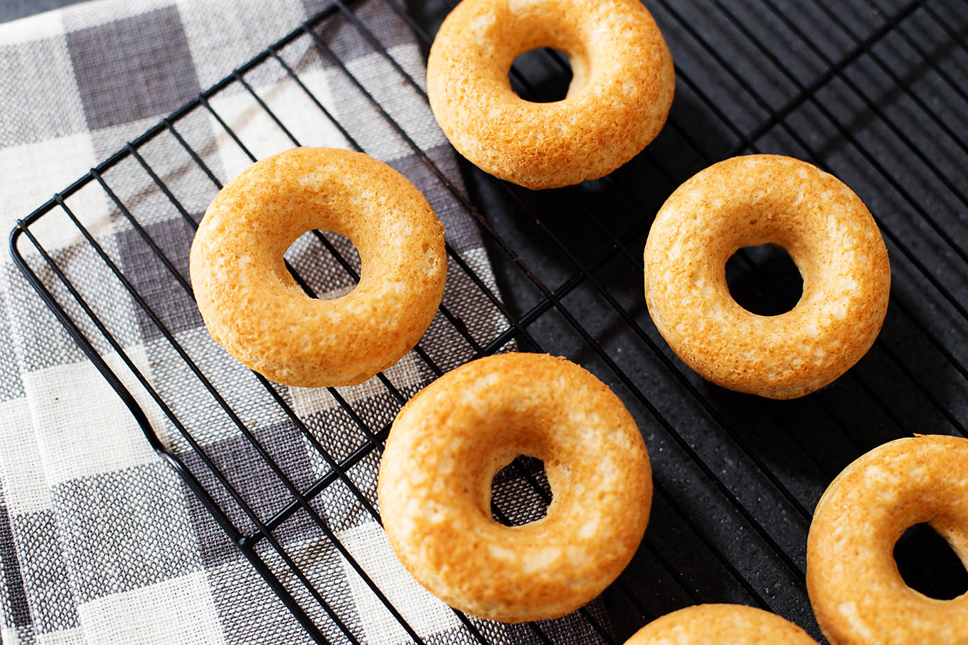 Baked donuts from a cake mix