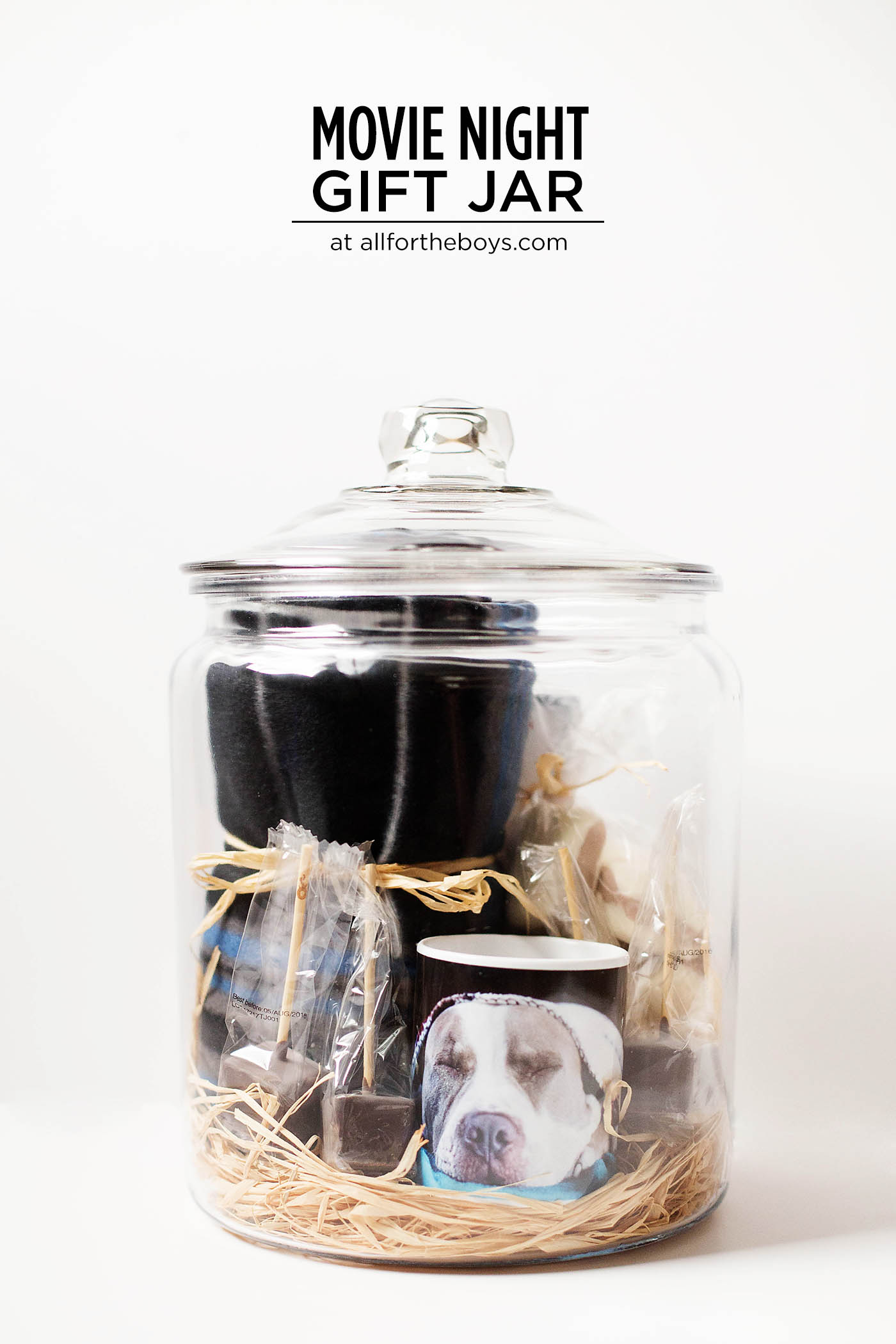 Gifts of experience are an awesome choice but we love wrapping gifts too! This fun personalized gift jar lets you give a cozy movie night all wrapped up in a jar!