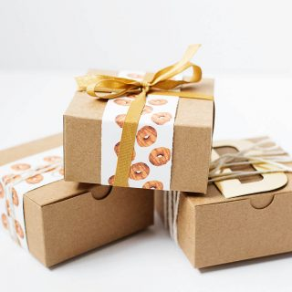 Fall Donut Surprise with a Printable Wrapping