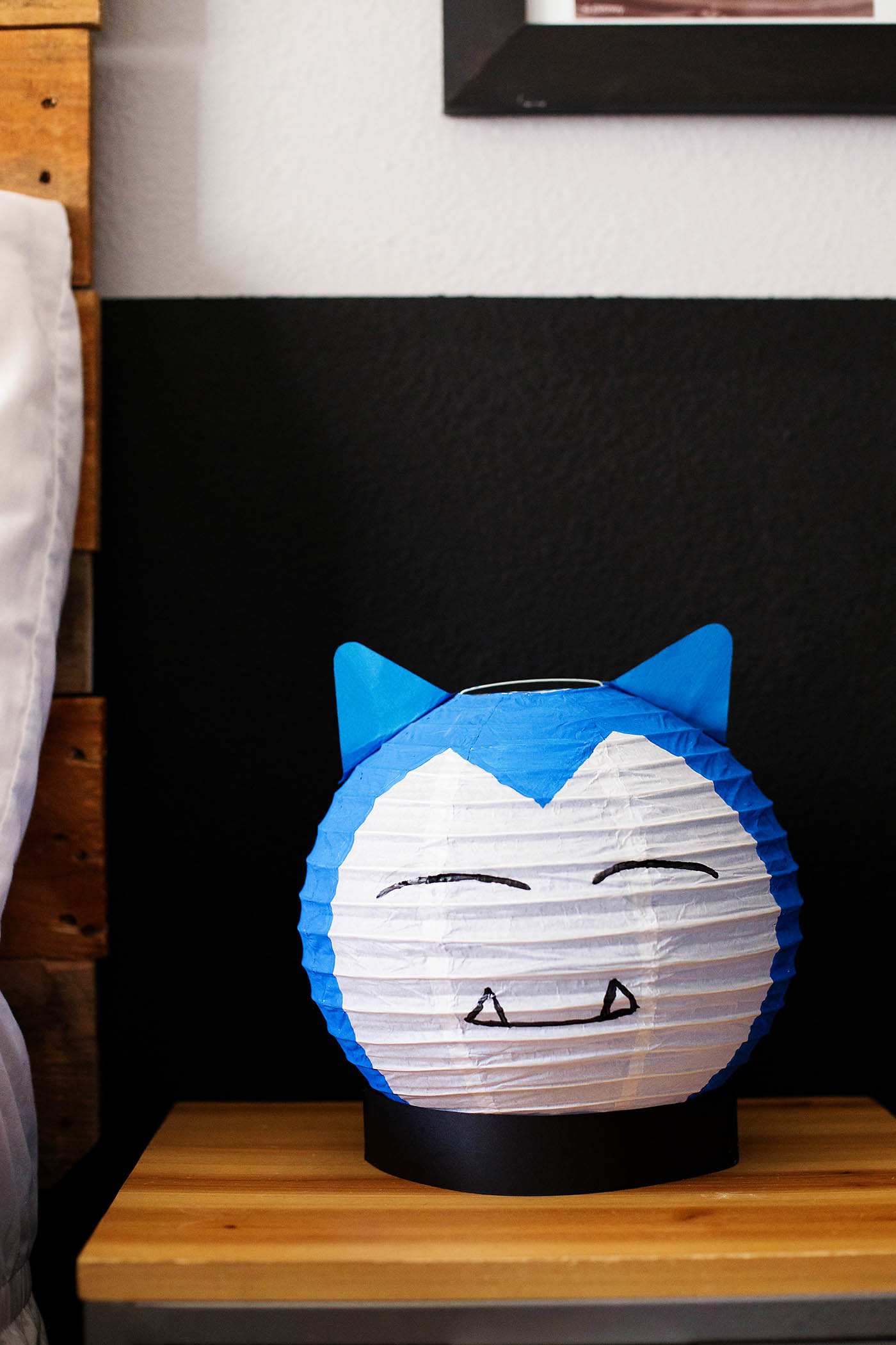 DIY Pokémon Inspired Snorlax Lantern - a fun craft idea for Pokémon and Pokémon Go fans!