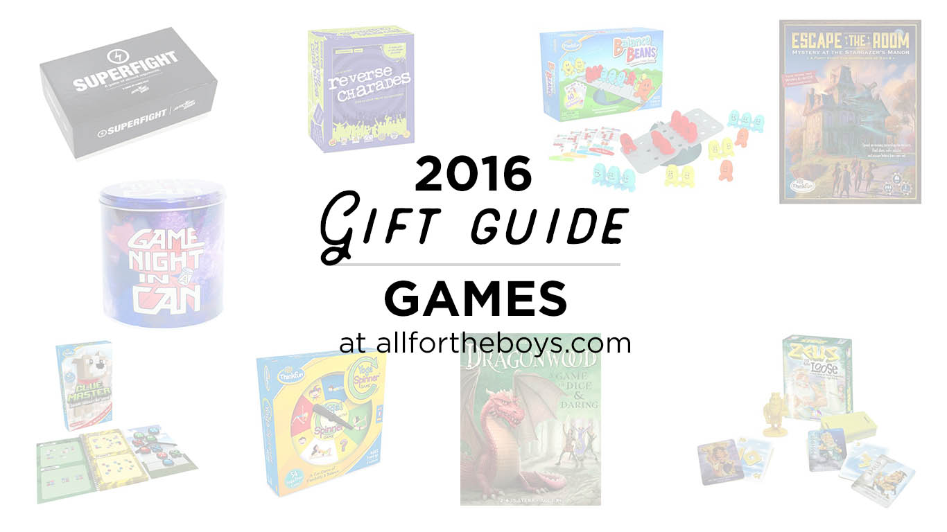Gift ideas! A great list of games for a wide ranges of ages and families.