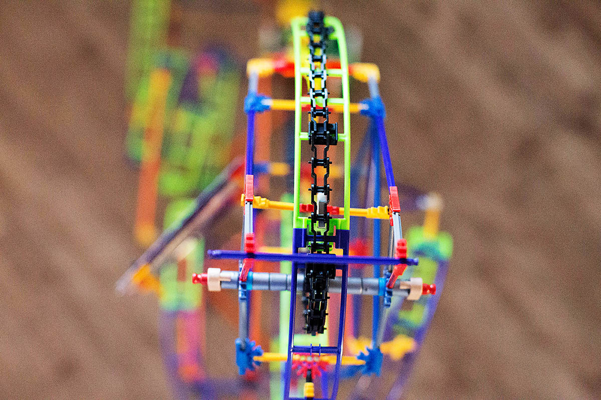 K'NEX Wild Whiplash roller coaster with working motor - great inexpensive gift idea!