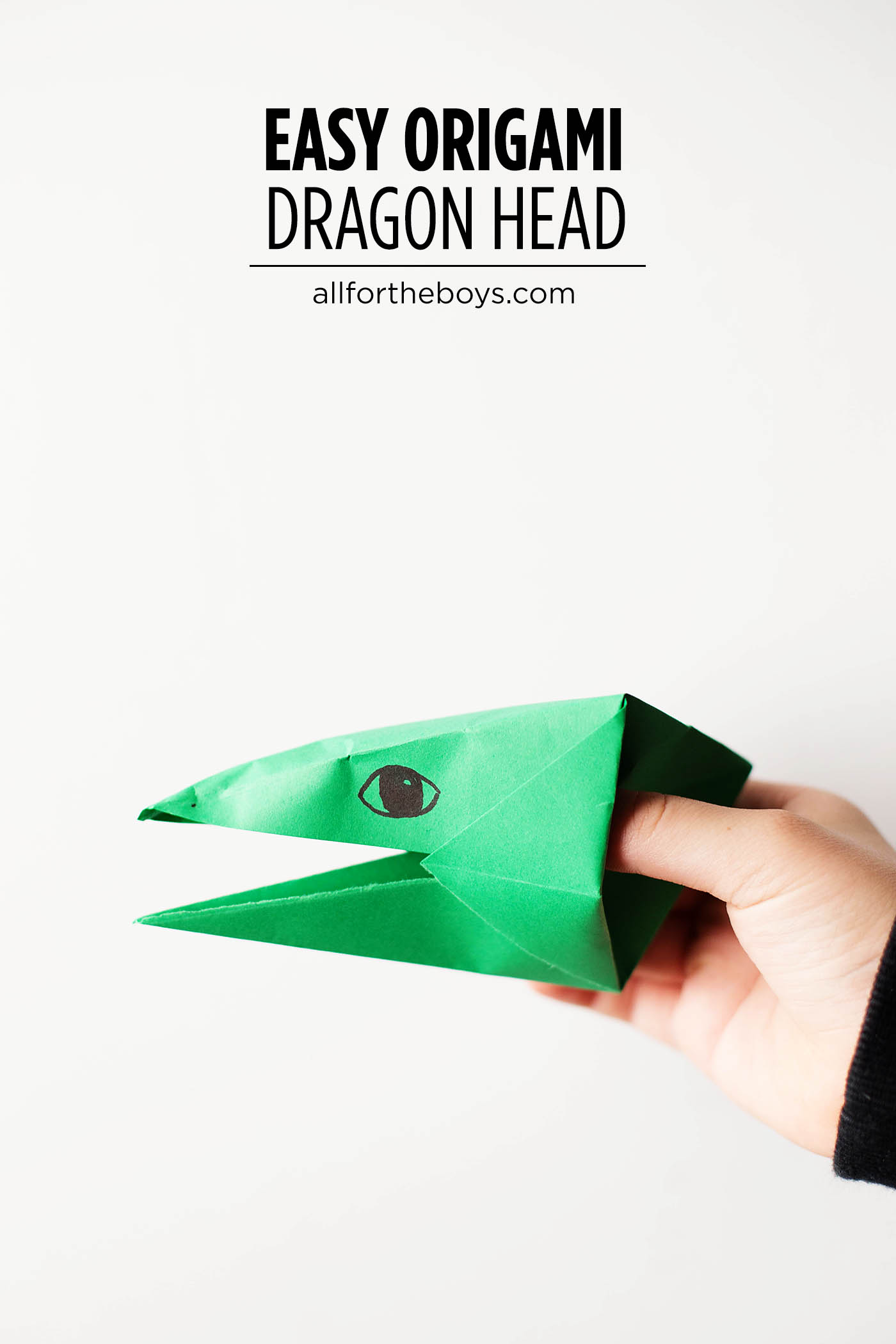 Easy Origami Dragon Head Petes Dragon All For The Boys