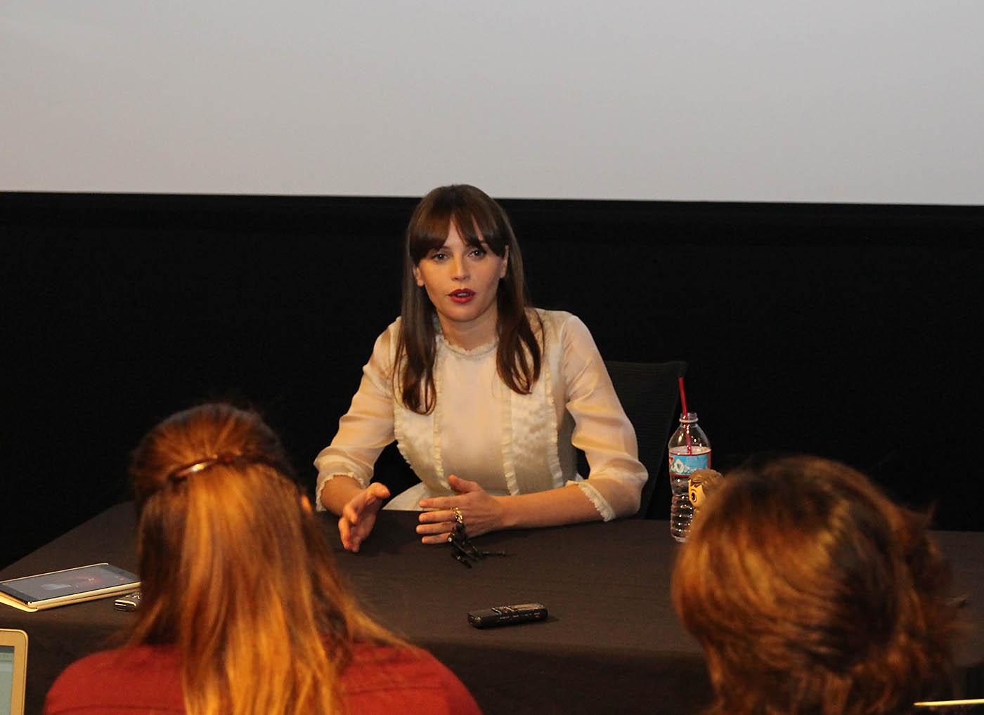 Felicity Jones #RogueOneEvent blogger interview