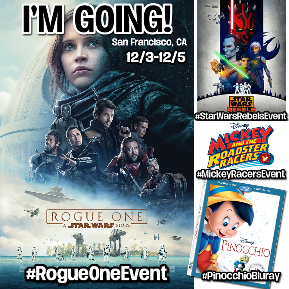 Disney interview trip for #RogueOneEvent #StarWarsRebelsEvent #MickeyRacersEvent #PinocchioBluray
