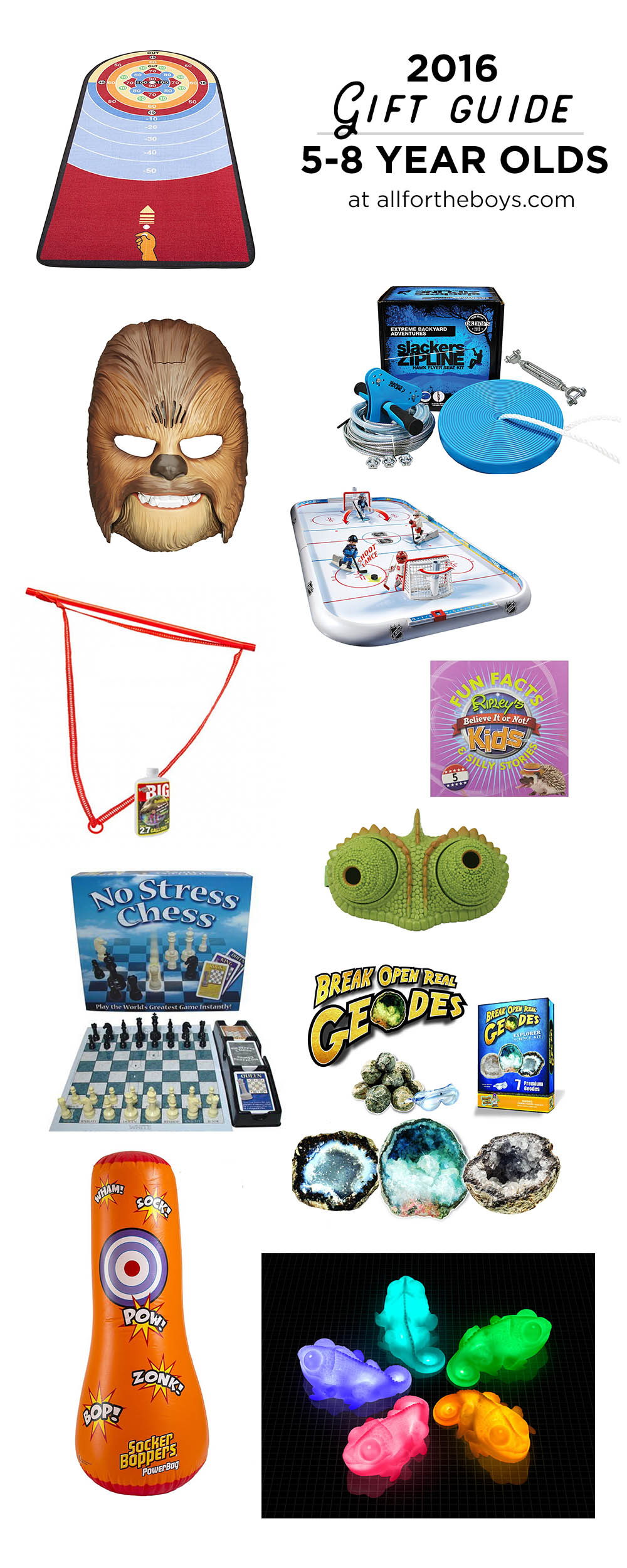 2016 Gift Guide for preschoolers - great gift ideas for school aged kids around 5 - 8 years old