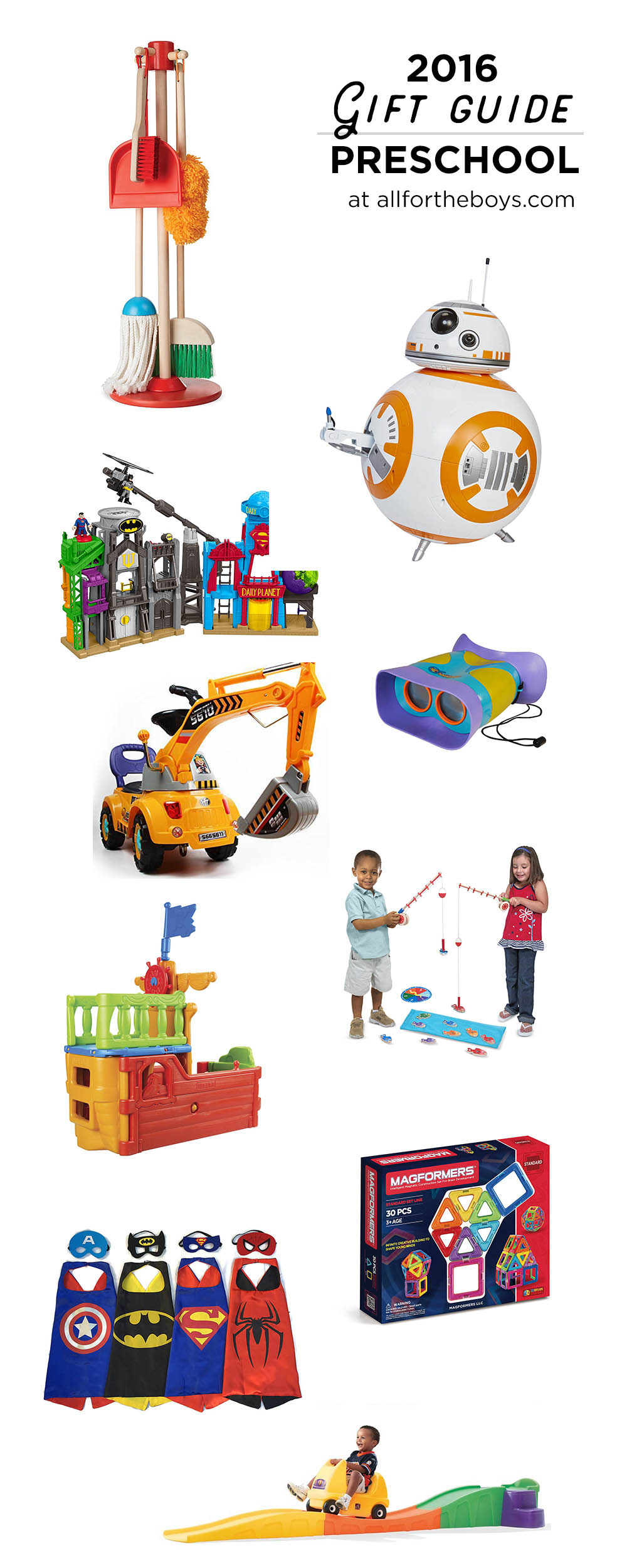 2016 Gift Guide for preschoolers - great gift ideas for toddlers or preschool aged kids