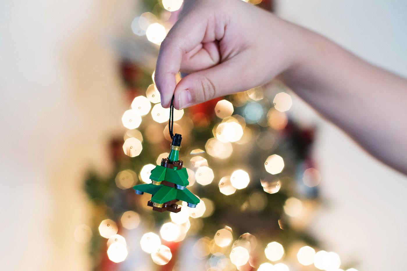 Easy DIY LEGO ornaments