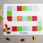 Printable holiday game with edible playing pieces!