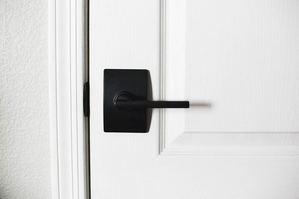 New black Schlage interior doorknobs