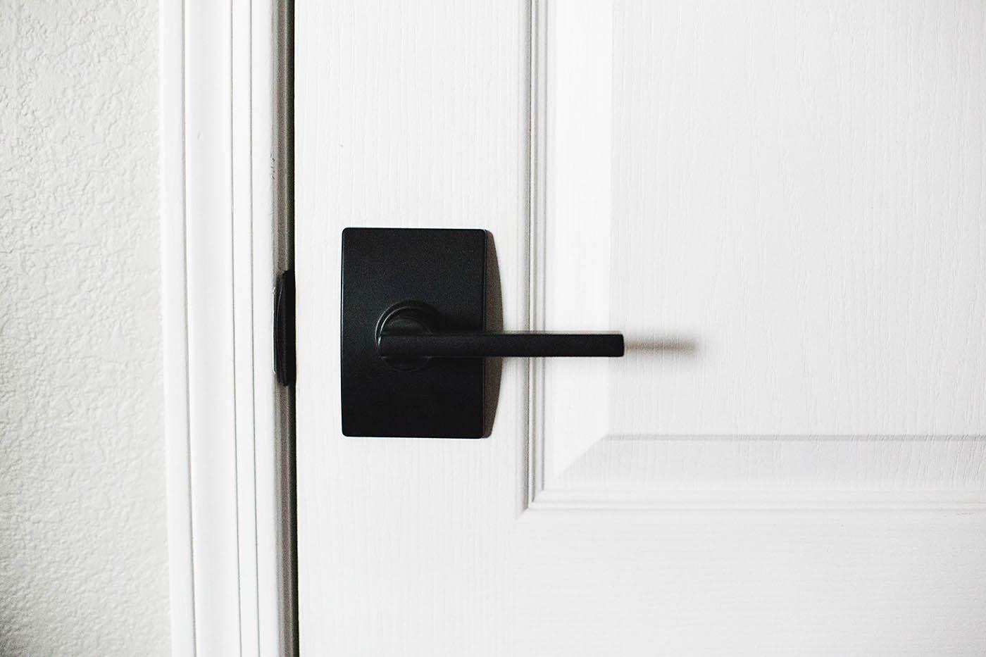 New black Schlage interior doorknobs