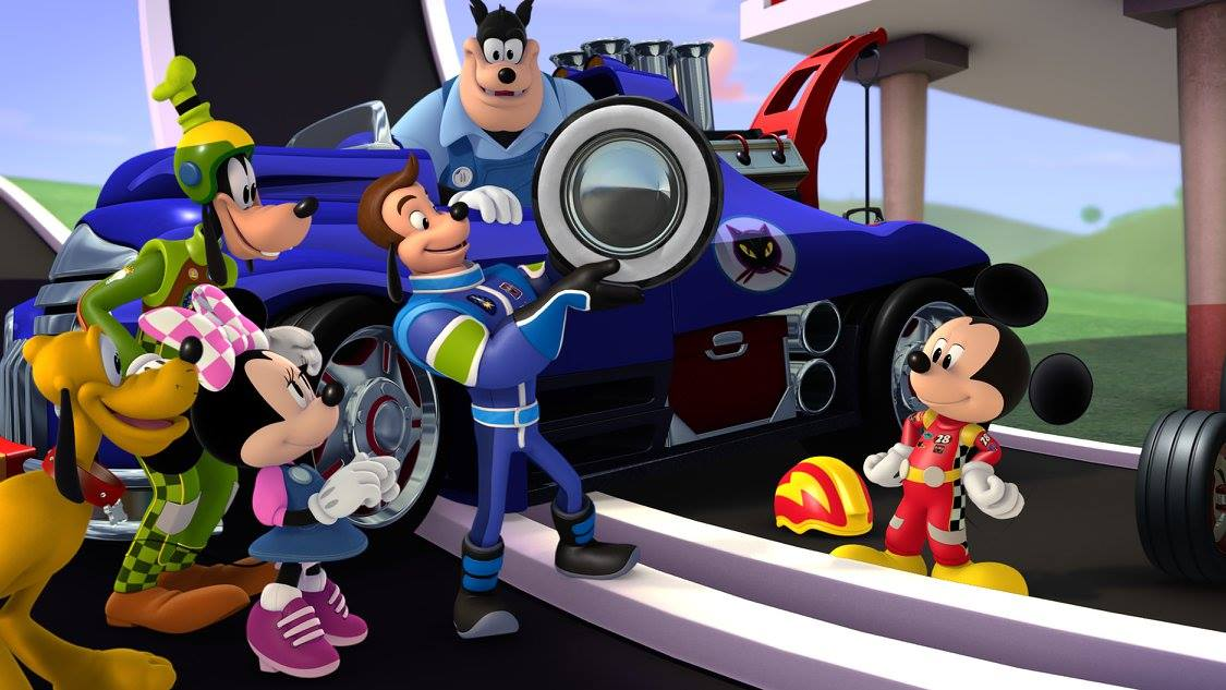 """MICKEY AND THE ROADSTER RACERS - """"Mickey's Wild Tire"""" - Disney Junior's animated """"Mickey and the Roadster Racers,"""" a madcap car-racing adventure series for preschoolers led by Disney's #1 star, Mickey Mouse, and his pals Minnie, Pluto, Goofy, Daisy and Donald, will make its television debut in a simulcast SUNDAY JANUARY 15 (9:00 and 9:25 a.m., EST) on Disney Channel and Disney Junior. (Disney Junior)PLUTO, GOOFYM MINNIE MOUSE, JIMINY JOHNSON, PETE THE CAT, MICKEY MOUSE"""