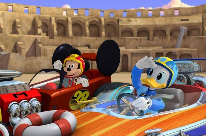 "MICKEY AND THE ROADSTER RACERS - ""Race for the Rigatoni Ribbon!"" - Mickey and the gang compete against Piston Pietro throughout Rome, while a runaway giant meatball chases after Goofy. This episode of ""Mickey and the Roadster Racers"" airs Monday, January 16 (12:00 - 12:25 P.M. EST) on Disney Junior. (Disney Junior)MICKEY MOUSE, DONALD DUCK"