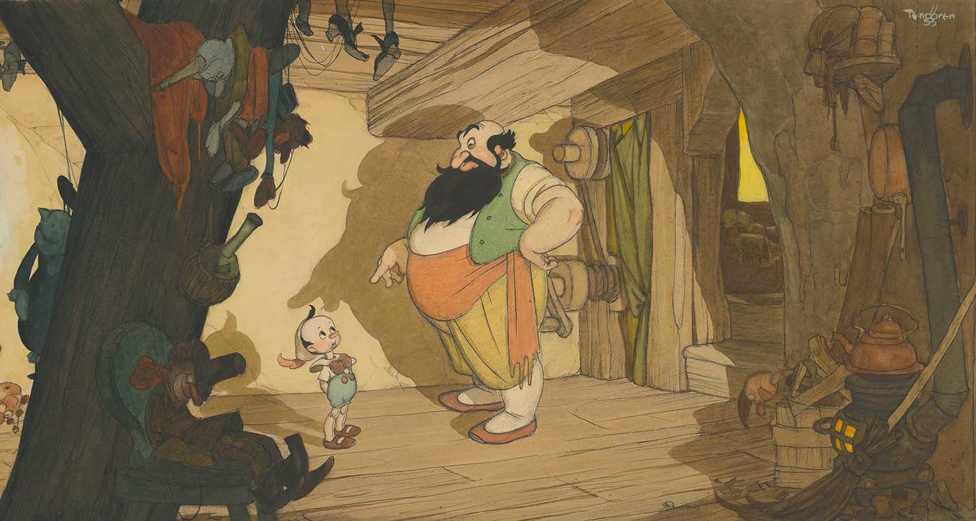 Gustaf Tenggren, Pinocchio concept art; collection of the Walt Disney Animation Research Library, © Disney