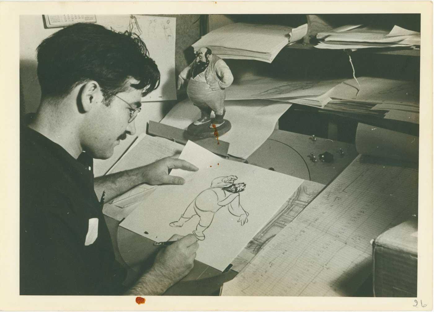 Photograph of Vladimir Tytla; collection of the Walt Disney Family Foundation, © Disney