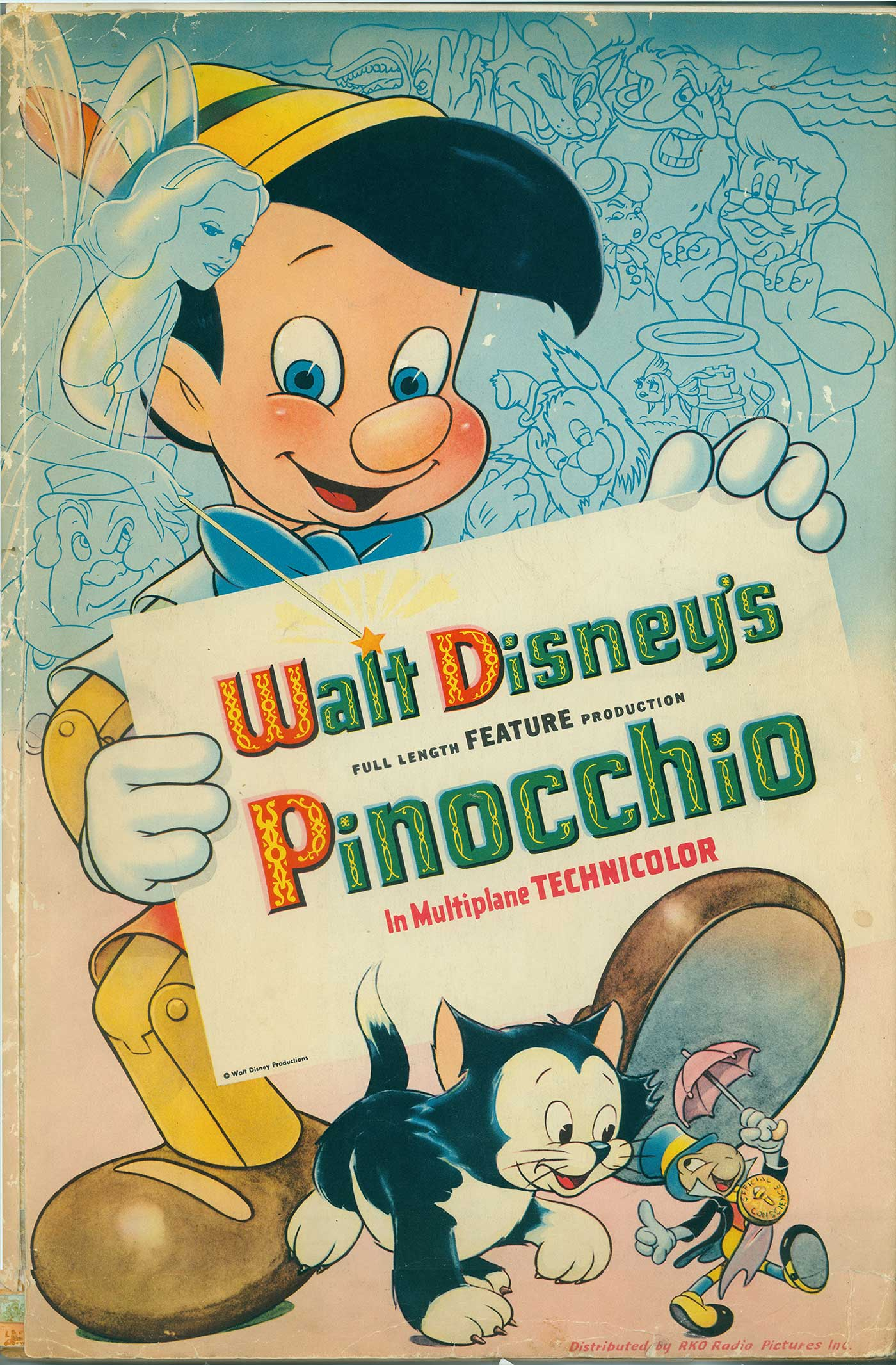 Pinocchio poster, printed ink on paper; collection of Tony Anselmo, © Disney